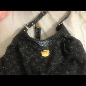 Louis Vuitton denim handbag for sale